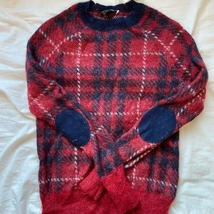 J.crew wool red checkered sweater